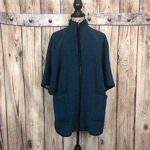 Old Navy Teal Poncho Sweater Jacket Large